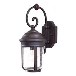 1 Light Outdoor Wall Sconce With Bronze Finish