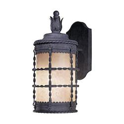 1 Light Outdoor Wall Sconce With Spanish Iron Finish