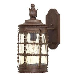 1 Light Outdoor Vintage Rust Wall Lantern