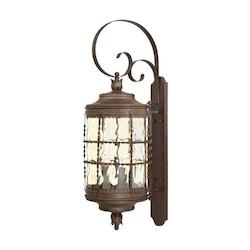 5 Light Vintage Rust Wall Lantern