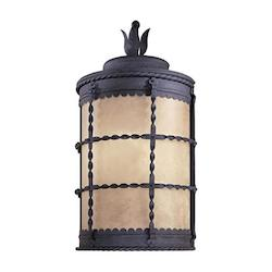 2 Light Outdoor Wall Pocket Sconce With Iron Finish