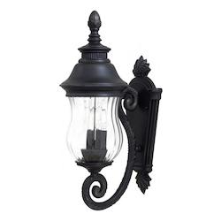 2 Light Outdoor Wall Sconce With Heritage Finish