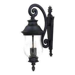 3 Light Outdoor Wall Sconce With Heritage Finish