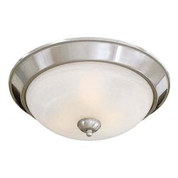 Brushed Nickel 3 Light 15.5In. Width Flush Mount Ceiling Fixture