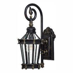 1 Light Outdoor Wall Light With Heritage Finish
