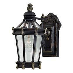 1 Light Outdoor Lantern With Heritage Finish