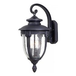 3 Light Outdoor Wall Light With Heritage Finish