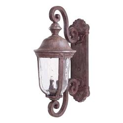 2 Light Outdoor Wall Lantern With Vintage Rust Finish