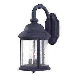 3 Light Outdoor Wall Sconce With Black Finish