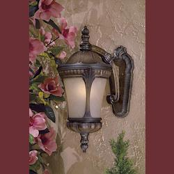 3 Light Outdoor Prussian Gold Lantern