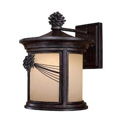 3 Light Wall Lantern With Iron Oxide Finish