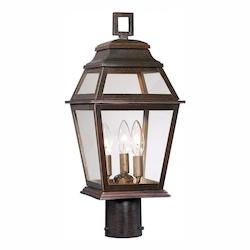 Open Box 3 Light Outdoor Post Light With Bronze Finish