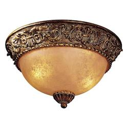 Belcaro Walnut 2 Light Flush Mount Ceiling Fixture From The Belcaro Collection