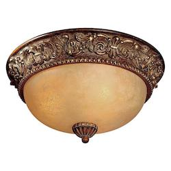 Belcaro Walnut 3 Light Flush Mount Ceiling Fixture From The Belcaro Collection