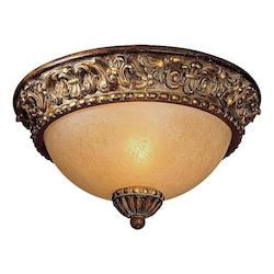 Belcaro Walnut 1 Light Flush Mount Ceiling Fixture From The Belcaro Collection
