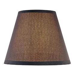 Black Single Optional Fabric Shade From The Federal Restoration Collection