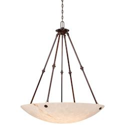 Bronze Patina 6 Light Bowl Shaped Pendant In Bronze Patina From The Virtuoso Ii Collection