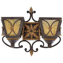 Monte Titano Oro 1 Light Lantern Double Wall Sconce From The Monte Titano Collection