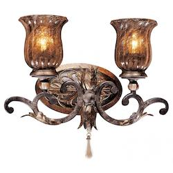 Sanguesa Patina 2 Light 16In. Width Bathroom Vanity Light From The Sanguesa Collection