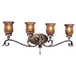 Sanguesa Patina 4 Light 32.5In. Width Bathroom Vanity Light From The Sanguesa Collection