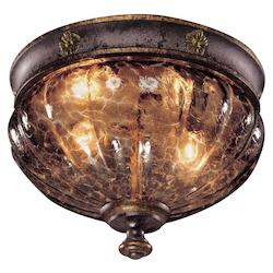 Sanguesa Patina 2 Light Flush Mount Ceiling Fixture From The Sanguesa Collection