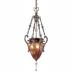 Sanguesa Patina 3 Light Urn Pendant From The Sanguesa Collection