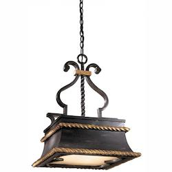 French Black 3 Light Full Sized Pendant From The Montparnasse Collection