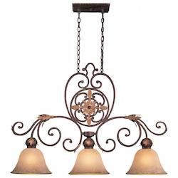 Golden Bronze 3 Light 1 Tier Mini Chandelier From The Zaragoza Collection