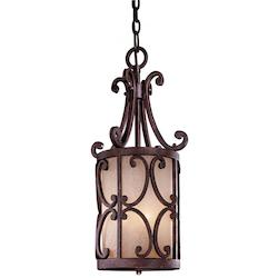Golden Bronze 3 Light Full Sized Pendant From The Zaragoza Collection