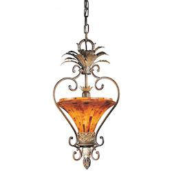 Cattera Bronze 1 Light Bowl Shaped Pendant From The Salamanca Collection