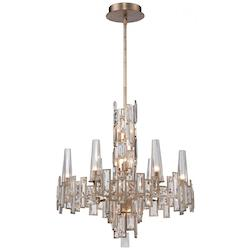 Luxor Gold 12 Light 1 Tier Crystal Chandelier from the Bel Mondo Collection