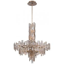 Luxor Gold 18 Light 3 Tier Crystal Chandelier From The Bel Mondo Collection