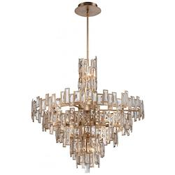 Luxor Gold 21 Light 2 Tier Crystal Chandelier from the Bel Mondo Collection