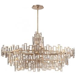Luxor Gold 21 Light 3 Tier Crystal Chandelier From The Bel Mondo Collection