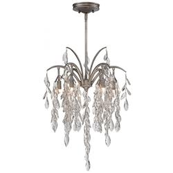 Silver Mist 6 Light Full Sized Pendant From The Bella Flora Collection