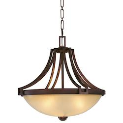 Cimarron Bronze 3 Light Bowl Shaped Pendant From The Underscore Collection