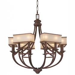 Cimarron Bronze 12 Light 1 Tier Chandelier From The Underscore Collection
