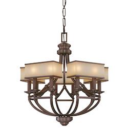 Cimarron Bronze 10 Light 1 Tier Chandelier From The Underscore Collection