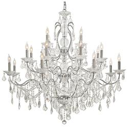 Chrome 20 Light 3 Tier Candle Style Crystal Chandelier From The Vintage / Crystal Collection