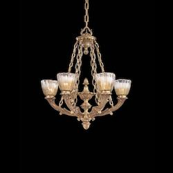 French Gold 6 Light 1 Tier Chandelier From The Vintage Collection