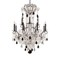 Black Bohemian Crystals Glass Up Chandelier