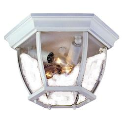 Three Light Textured White Outdoor Flush Mount - Acclaim Lighting 5602TW/SD