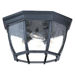 Four Light Matte Black Outdoor Flush Mount - Acclaim Lighting 5603BK/SD