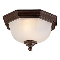 Two Light Burled Walnut Outdoor Flush Mount - Acclaim Lighting 5605BW