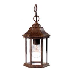 One Light Black Coral Hanging Lantern