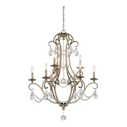 Argent Silver 9 Light 2 Tier Crystal Chandelier - 120