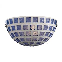 One Light Blue Mosaic Wall Light - ELK Lighting 1320/1BLM
