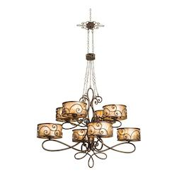 40 Light Chandelier With Aged Silver Finish