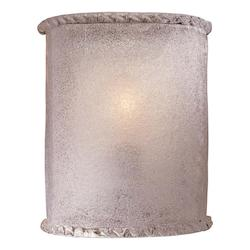 White Piastra Glass 1 Light 8in. Width ADA Wall Sconce with White Piastra Shade - 234887