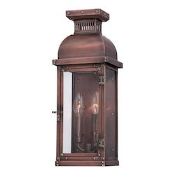 2 Light Outdoor Lantern with Manhattan Copper Finish